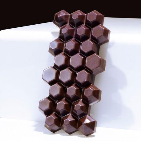 Molde Policarbonato Tablete | Hexagon Chocolate Bar