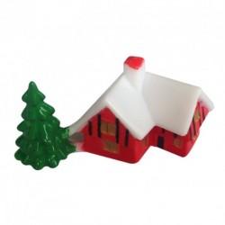 Casinha Vermelha com Pinheiro PVC