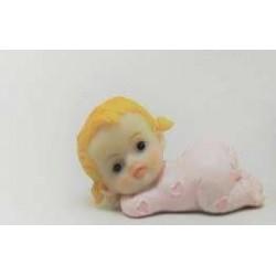 Bebe Menina Deitada Resina 6,5cm