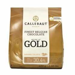 Chocolate Pastilha Gold Caramelo Callebaut 400g
