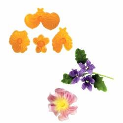 Cortadores Flores Violetas
