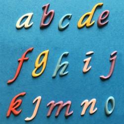 Cortante em régua alfabeto minusculas