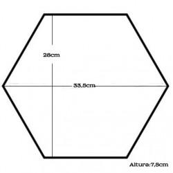 Forma Bolos Hexágono Nº4