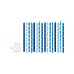 Velas de Aniversario Azuis