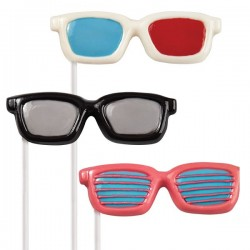 Molde Bombons Lollipop Oculos
