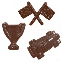 Molde P/ Chocolate Kit Carro de Corrida