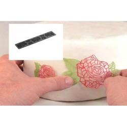 Molde Silicone Tricot Decor Rosas