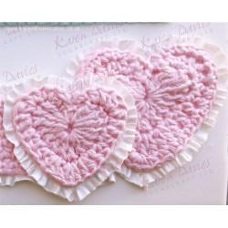 Molde Silicone Crochet Corações Karen Davies