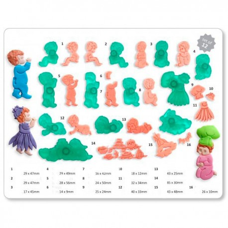 Cortantes Bebes - Set 12