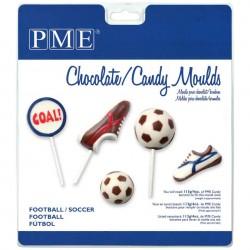 Molde Plástico para Bombons Futebol