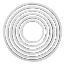 Cortantes Plástico Redondos - Cj.6