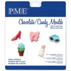 Molde Plástico Chocolate Mundo das Mulheres