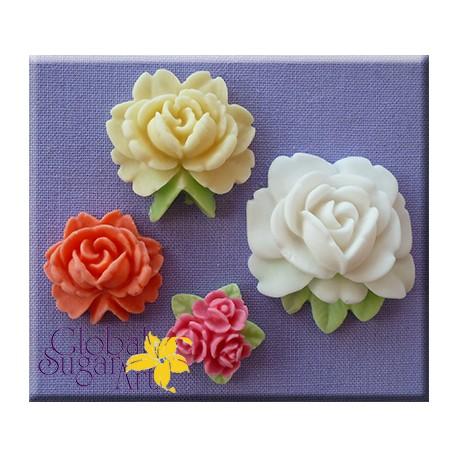 Molde Silicone Rosas