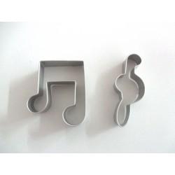 Cortantes Notas Musicais 7cm