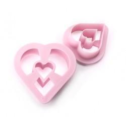 Cortante Donuts Coração - Cj.2