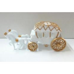Carroça Decorativa Branca Pvc