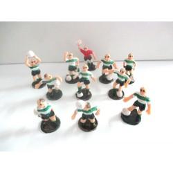 Jogadores de Futebol Verdes e Brancos