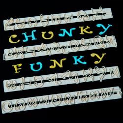 Cortante Alfabeto e NºS Chunky Funky