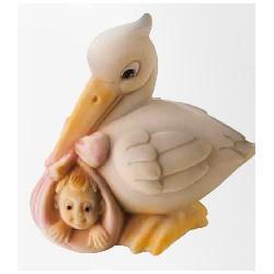 Molde Cegonha com Bebe