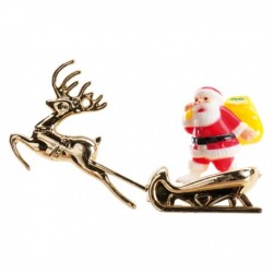 Pai Natal Trenó Dourado